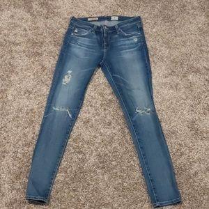 AG Adriano Goldschmied skinny jeans, size 28
